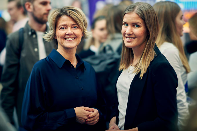 Picture of Pernilla and Stina from LUSEM Career Services.