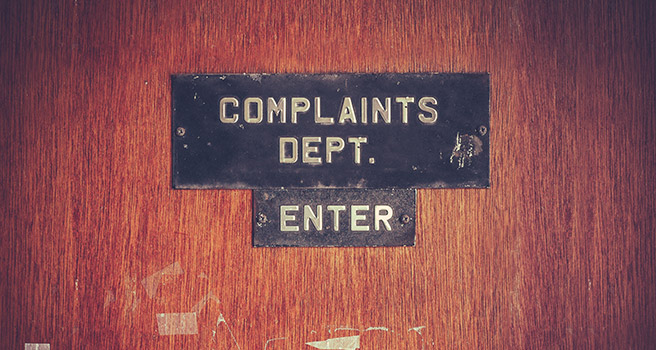 Complaints-department-door. Photo: iStock.com