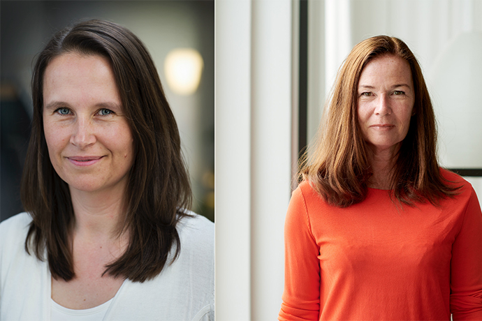 Photo of the two teachers in the article Nadja Sörgärde and Christine Blomquist.